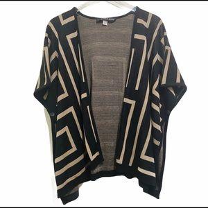 ☘️A Knitch Above button sleeve shawl sweater M